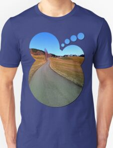 Country road through rural scenery | landscape photography T-Shirt