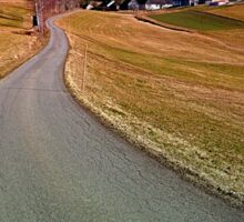 Country road through rural scenery | landscape photography Sticker