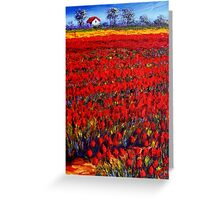 Home in the Red Fields Greeting Card