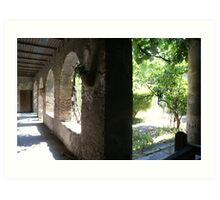 Galleried courtyard to large dwelling in Pompeii  Art Print