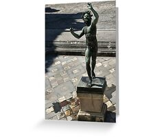 Fountain imp, Pompeii  Greeting Card