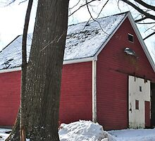 Red Barn at Westminster Hill Rd Fitchburg MA by Rebecca Bryson
