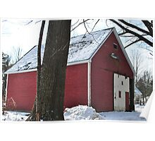 Red Barn at Westminster Hill Rd Fitchburg MA Poster