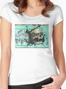 Screaming Skull Women's Fitted Scoop T-Shirt