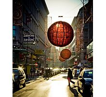 Red in Vienna Photographic Print