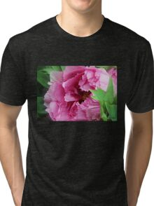 Pink April Tree Peony Tri-blend T-Shirt