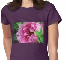 Pink April Tree Peony Womens Fitted T-Shirt