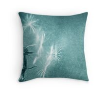 make a wish_turquoise_card Throw Pillow
