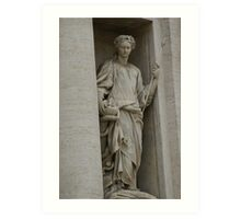 Trevi Fountain, Rome - detail Art Print