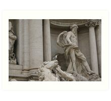 Trevi Fountain, Rome - Oceanus detail Art Print