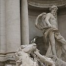 Trevi Fountain, Rome - Oceanus detail by BronReid