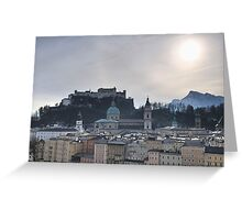 Festung Salzburg Greeting Card