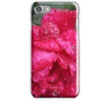 Red Rose with Water Droplets iPhone Case/Skin