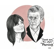 """""""Thank You For Phoning"""" Clara and the Twelfth Doctor by perphation"""