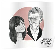 """""""Thank You For Phoning"""" Clara and the Twelfth Doctor Poster"""