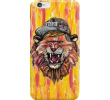 Fierce Snapback Hipster Lion  iPhone Case/Skin