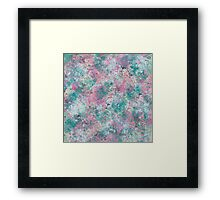 Cotton Candy Collision Framed Print
