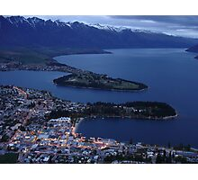 Queenstown at dusk Photographic Print