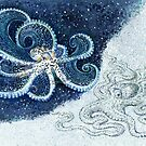 Postcards for the Reef 12: A pair of Mimic Octopi by MiMiDesigns