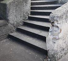 Curved Steps The Rocks by iami