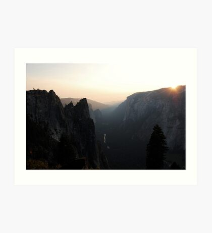 Modesto River Valley (El Capitan) in Yosemite Park Art Print