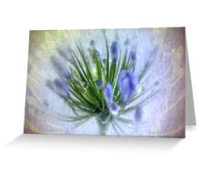 Love is blue Greeting Card
