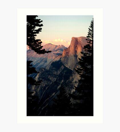 Half Dome Alpenglow in Yosemite Art Print