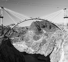 Hoover Dam Bypass in August 2009 by Rob  Holcomb