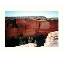 Cliff Face, Kings Canyon Art Print