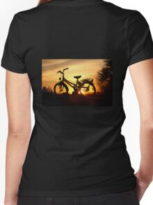 Wheels...  Women's Fitted V-Neck T-Shirt