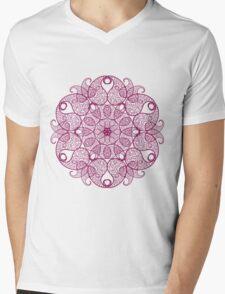 Abstract circular pattern Mens V-Neck T-Shirt