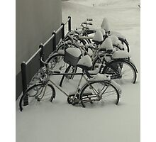 Outside my window - still -20 degrees Photographic Print