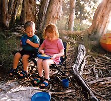 Kids Camping by Cheryl Parkes