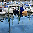 Masts In The Reflected Blue by Joanna Beilby