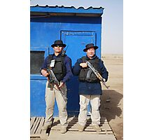 Gherka Guards in Iraq Photographic Print