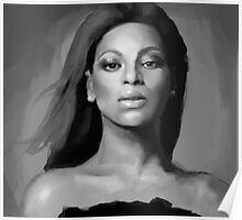 Beyoncé black and white portrait Poster