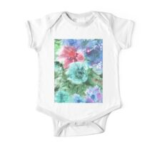 watercolor flowers One Piece - Short Sleeve