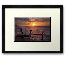 Stilish sunset Framed Print