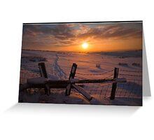 Stilish sunset Greeting Card