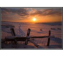 Stilish sunset Photographic Print