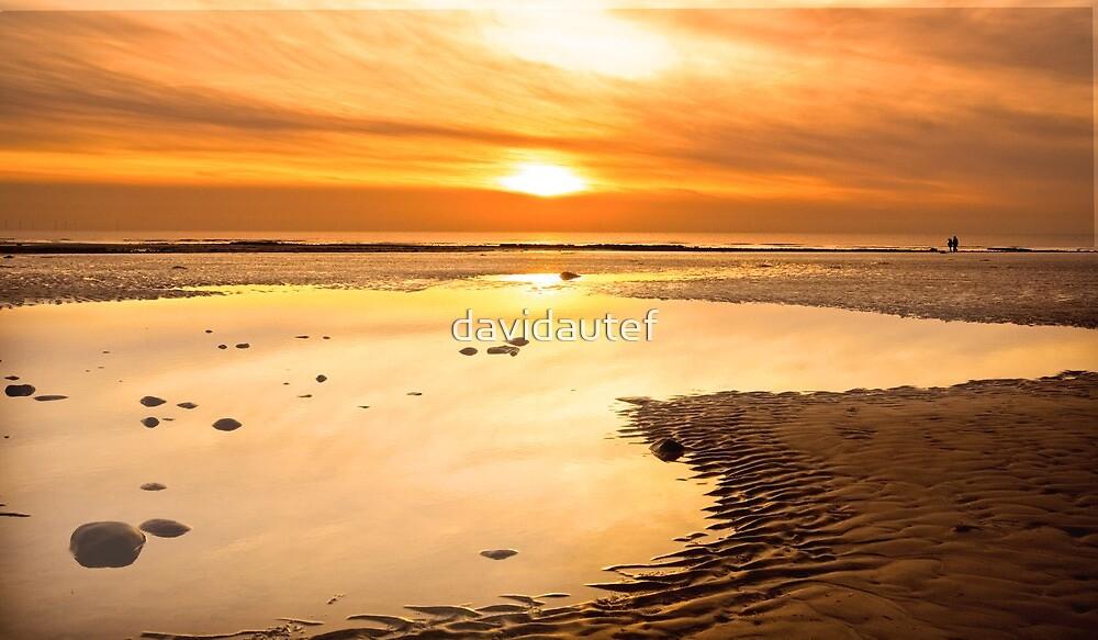walney winter sunset by davidautef