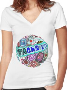 personlized name(taghread) Women's Fitted V-Neck T-Shirt
