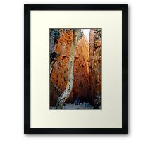 Standley Chasm Framed Print