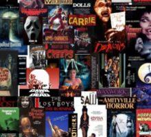 Horror Movie Collage Sticker