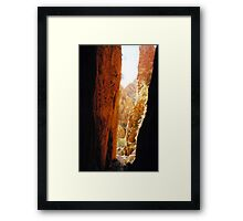 Golden Standley Chasm Framed Print