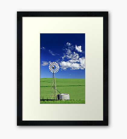 Farm Windmill  Framed Print