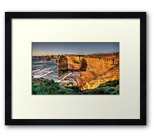 Awe - Twelve Apostles , Great Ocean Road - The HDR Experience Framed Print