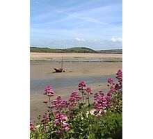 Boat At Low Tide At Padstow, Cornwall Photographic Print