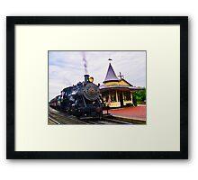 Locomotive Steam Engine Framed Print