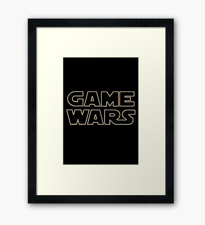 Game Wars Framed Print